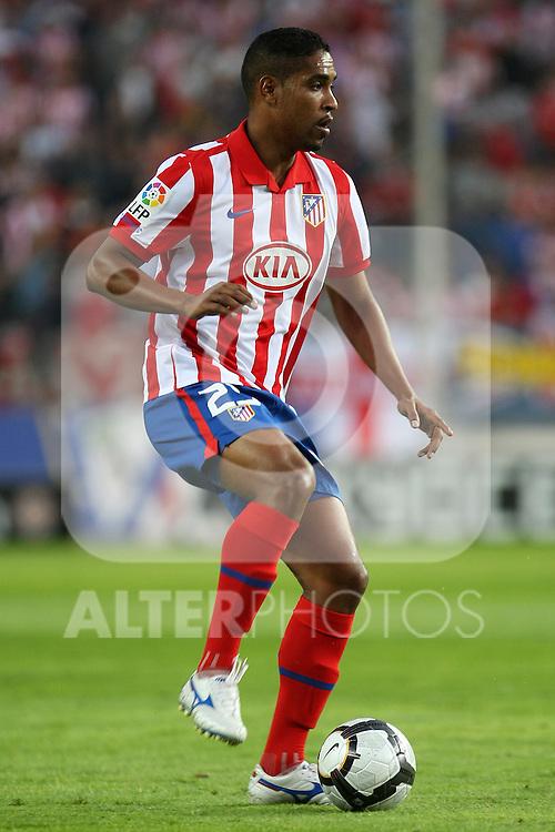 Atletico de Madrid's Cleber Santana during La Liga match. September 24 2009. .(ALTERPHOTOS/Acero).