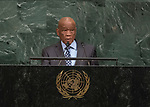 72 General Debate – 22 September <br /> <br /> His Excellency Thomas Motsoahae Thabane, Prime Minister of the Kingdom of Lesotho