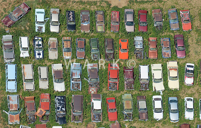 Car junkyard near Dacono, Colorado. June 2014. 85384