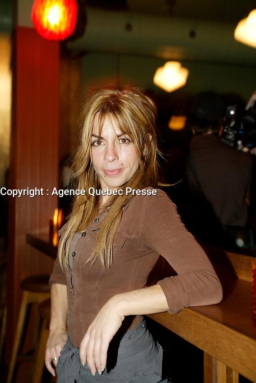 Montreal (Qc) CANADA - December 2007 file photo-Anne Casabonne, <br /> <br /> launch of La galere (TV) DVD,<br /> <br /> Alliance Vivafilm, Productions RCB inc.,et Cirrus ont lancé mercredi 5 décembre le coffret DVD de la premiZre saison de la série « La GalZre C, diffusée sur les ondes de Radio-Canada. Ont participé ? ce lancement : lOauteure Renée-Claude Brazeau, la réalisatrice Sophie Lorain, et la plupart des comédiennes et comédiens dont Anne Casabonne, HélZne Florent, Brigitte Lafleur et GeneviZvre Rochette.<br /> photo (c) Pierre Roussel- Images Distribution