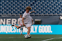 FOXBOROUGH, UNITED STATES - AUGUST 21: Ryley Kraft #98 of Richmond Kickers warms up before a game between Richmond Kickers and New England Revolution II at Gillette Stadium on August 21, 2020 in Foxborough, Massachusetts.