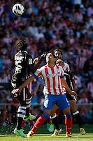 Atletico's Falcao and Granada's Diakhate during La Liga BBVA match. April 14, 2013.(ALTERPHOTOS/Alconada)