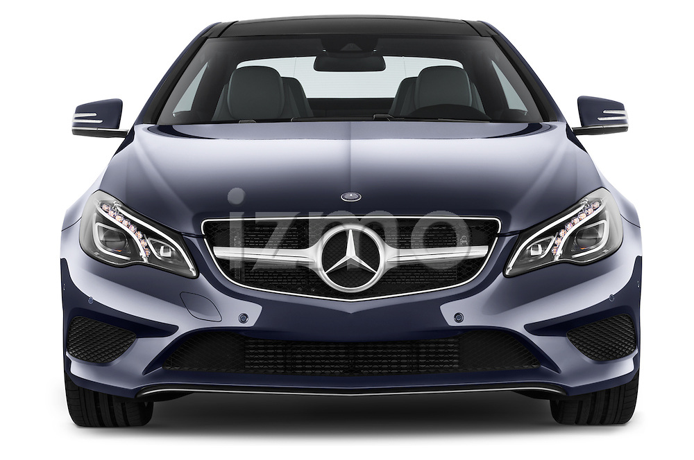 Car photography straight front view of a2013 Mercedes Benz E Class 220 2 Door Coupe Front View