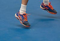 Hilversum, The Netherlands, March 12, 2016,  Tulip Tennis Center, NOVK, shoes on plexipave<br /> Photo: Tennisimages/Henk Koster