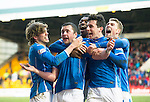 St Johnstone v Motherwell…20.02.16   SPFL   McDiarmid Park, Perth<br />Tam Scobbie celebrates his goal with Murray Davidson, Darnell Fisher, Joe Shaughnessy and David Wotherspoon<br />Picture by Graeme Hart.<br />Copyright Perthshire Picture Agency<br />Tel: 01738 623350  Mobile: 07990 594431