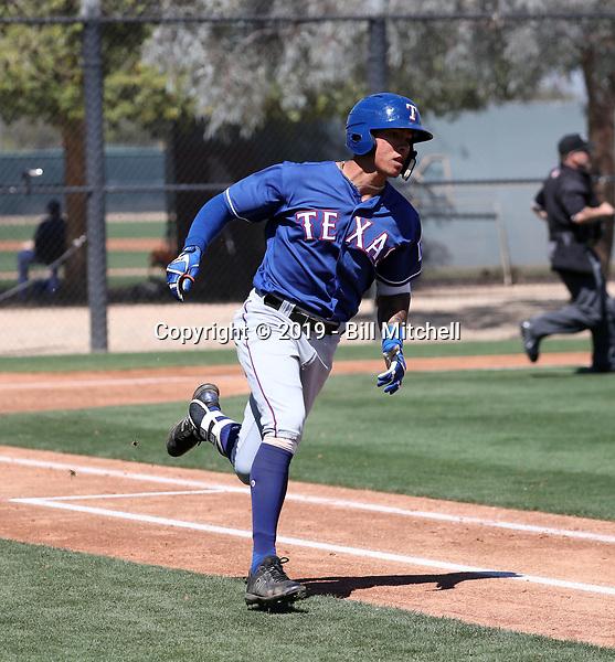 Chris Seise - Texas Rangers 2019 spring training (Bill Mitchell)