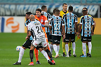28th August 2021; Arena do Gremio, Porto Alegre, Brazil; Brazilian Serie A, Gremio versus Corinthians;  Fábio Santos and Cássio from Corinthians holds back Maicon of Grêmio after he received the red card in the 80th minute