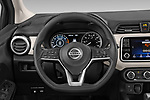 Car pictures of steering wheel view of a 2020 Nissan Versa SV 4 Door Sedan