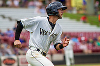 Wisconsin Timber Rattlers third baseman Lucas Erceg (17) rounds the bases during a Midwest League game against the Lake County Captains on July 24, 2016 at Fox Cities Stadium in Appleton, Wisconsin. Lake County defeated Wisconsin 6-2. (Brad Krause/Four Seam Images)