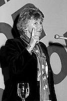 October 29, 1985 File Photo - Montreal, Quebec CANADA - Benoite Groulx