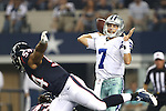 Dallas Cowboys quarterback Alex Tanney (7) in action during the pre-season game between the Houston Texans and the Dallas Cowboys at the AT & T stadium in Arlington, Texas. Houston leads Dallas 14 to 3 at halftime.