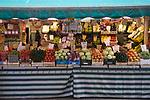 Venice Italy 2009. Rialto Market vegetable stall.