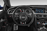 Car pictures of steering wheel view of a 2015 Audi S5 4.2 quattro Tiptronic Premium Plus Coupe 2 Door Coupe Steering Wheel
