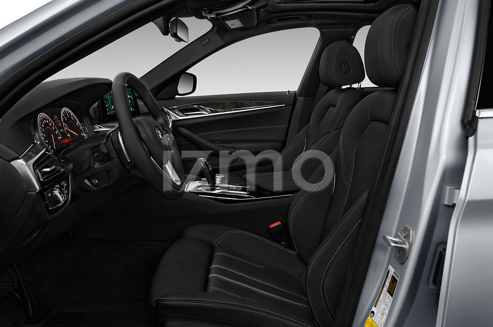 Front seat view of a 2018 BMW 5 Series Sport 4 Door Sedan front seat car photos