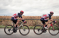John Degenkolb (DEU/Lotto-Soudal) & Jasper de Buyst (BEL/Lotto-Soudal)<br /> <br /> 44th AG Driedaagse Brugge-De Panne 2020 (1.UWT)<br /> 1 day race from Brugge to De Panne (203km shortened to 188km due to the windy weather conditions) <br /> <br /> ©kramon