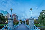 Victorian bridge in the Boston Public Garden, Boston, Massachusetts, USA