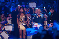 04.01.2015.  London, England.  William Hill PDC World Darts Championship.  Finals Night.  Phil Taylor (2) [ENG] makes his way to the stage before his match against Gary Anderson (4) [SCO]