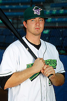 Jamestown Jammers third baseman Josh Adams #28 poses for a photo before a game against the Mahoning Valley Scrappers at Russell E. Diethrick Jr Park on September 2, 2011 in Jamestown, New York.  Mahoning Valley defeated Jamestown 8-4.  (Mike Janes/Four Seam Images)