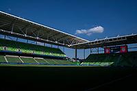 AUSTIN, TX - JUNE 16: Q2 Stadium before a game between Nigeria and USWNT at Q2 Stadium on June 16, 2021 in Austin, Texas.