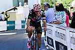 Alberto Bettiol (ITA) EF Education-Nippo from the breakaway attacks to win Stage 18 of the 2021 Giro d'Italia, running 231km from Rovereto to Stradella, Italy. 27th May 2021.  <br /> Picture: LaPresse/Fabio Ferrari   Cyclefile<br /> <br /> All photos usage must carry mandatory copyright credit (© Cyclefile   LaPresse/Fabio Ferrari)
