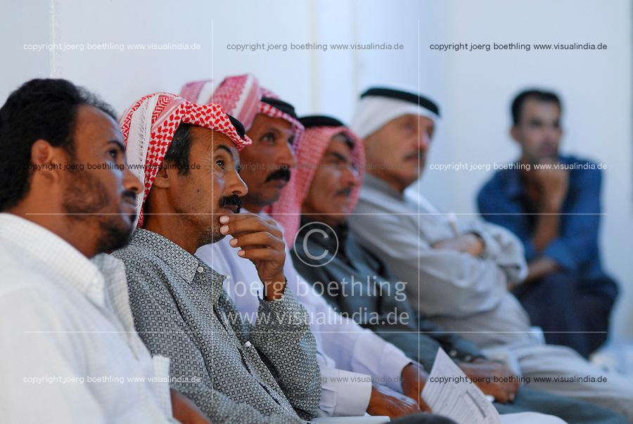 JORDAN, Jordan valley, german development cooperation, agricultural training for farmer / JORDANIEN, Landwirtschaft im Jordan Tal,  GTZ Projekt Beratung von Farmern bei Wassernutzung