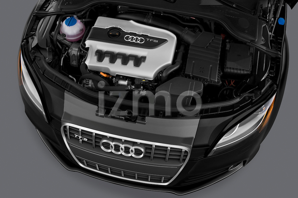 High angle engine detail of a  2010 Audi TTS Coupe.