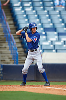 Dante Baldelli (10) of Bishop Hendricken High School in Cumberland, Rhode Island playing for the Texas Rangers scout team during the East Coast Pro Showcase on July 28, 2015 at George M. Steinbrenner Field in Tampa, Florida.  (Mike Janes/Four Seam Images)