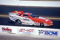 Feb. 22, 1998; Chandler, AZ, USA; NHRA funny car driver Gary Densham during the Checker Shucks Kragen Nationals at Firebird International Raceway. Mandatory Credit: Mark J. Rebilas-