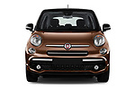 Car photography straight front view of a 2018 Fiat 500L Lounge 5 Door Mini Van