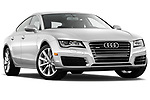 Stock pictures of low aggressive front three quarter view of 2012 Audi A7 Sportback 4 Door Hatchback