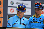 Miguel Angel Lopez Moreno (COL) Astana Pro Team at sign on before the start of the 99th edition of Milan-Turin 2018, running 200km from Magenta Milan to Superga Basilica Turin, Italy. 10th October 2018.<br /> Picture: Eoin Clarke | Cyclefile<br /> <br /> <br /> All photos usage must carry mandatory copyright credit (© Cyclefile | Eoin Clarke)