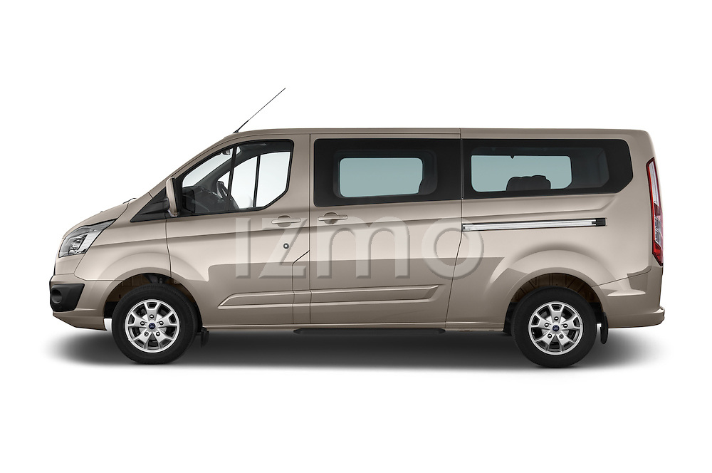 Car Driver side profile view of a 2013 Ford TOURNEO CUSTOM TITANIUM 5 Door Combi Side View