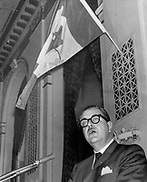 CLC President Claude Jodoin. Divisive regionalism is showing its head<br /> <br /> 1965<br /> <br /> PHOTO :  Dick Darrell - Toronto Star Archives - AQP
