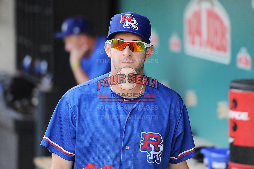 Jared Hoying (30) of the Round Rock Express before the game against the Salt Lake Bees in Pacific Coast League action at Smith's Ballpark on August 21, 2014 in Salt Lake City, Utah.  (Stephen Smith/Four Seam Images)