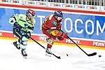 Eishockey DEL 37. Spieltag: Düsseldorfer EG vs <br /> ERC Ingolstadt am 07.04.2021 im ISS Dome in Düsseldorf<br /> <br /> Ingolstadts Frederik Storm (Nr.9) gegen Düsseldorfs Alexander Ehl (Nr.28)<br /> <br /> Foto © PIX-Sportfotos *** Foto ist honorarpflichtig! *** Auf Anfrage in hoeherer Qualitaet/Aufloesung. Belegexemplar erbeten. Veroeffentlichung ausschliesslich fuer journalistisch-publizistische Zwecke. For editorial use only.