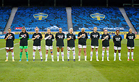 SOLNA, SWEDEN - APRIL 10: USWNT starting eleven before a game between Sweden and USWNT at Friends Arena on April 10, 2021 in Solna, Sweden.