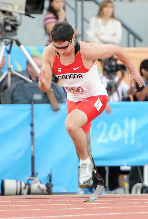 Jackie Marciano, Guadalajara 2011 - Para Athletics // Para-athlétisme.<br /> Jackie Marciano races in the 400m T44 final // Jackie Marciano au 400m T44 final. 11/14/2011.