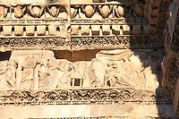 """A bas-relief among the ones that lie on the top of the so-called """"Colonnacce"""". These are the ancient Roman columns  that decorated the surrounding wall of the Forum of the emperor Nerva (Rome, 2016).<br /> <br /> Un bassorilievo tra quelli che si trovano sulla cima delle cosidette Colonnacce. Sono le antiche colonne Romane che decoravano le mura circondanti il Foro dell'imperatore Nerva (Roma, 2016)."""