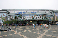 6 April 2008: The exterior view of the St. Pete Times Forum Arena during Stanford's 82-73 win against the Connecticut Huskies in the 2008 NCAA Division I Women's Basketball Final Four semifinal game at the St. Pete Times Forum Arena in Tampa Bay, FL.