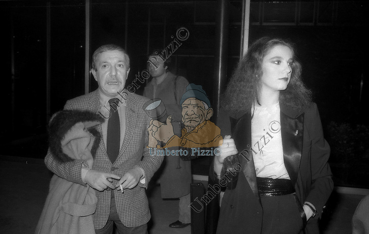 STEFANIA SANDRELLI CON MARIO MISSIROLI<br /> SERATA RAI - VIALE MAZZINI ROMA 1980