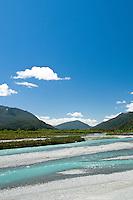 Taramakau River near Otira on a road towards the Arthur's Pass.