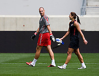 Paul Rogers, Hope Solo. The USWNT defeated Mexico, 1-0, during the game at Red Bull Arena in Harrison, NJ.