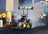 Jul. 25, 2014; Sonoma, CA, USA; NHRA top fuel driver Tony Schumacher during qualifying for the Sonoma Nationals at Sonoma Raceway. Mandatory Credit: Mark J. Rebilas-