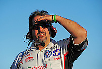 Jul. 24, 2009; Sonoma, CA, USA; NHRA funny car crew chief Dean Antonelli during qualifying for the Fram Autolite Nationals at Infineon Raceway. Mandatory Credit: Mark J. Rebilas-