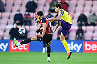 Dominic Solanke of AFC Bournemouth tangles with Rarmani Edmonds-Green of Huddersfield Town during AFC Bournemouth vs Huddersfield Town, Sky Bet EFL Championship Football at the Vitality Stadium on 12th December 2020
