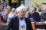 Gianni Savio at sign on before the start of the 99th edition of Milan-Turin 2018, running 200km from Magenta Milan to Superga Basilica Turin, Italy. 10th October 2018.<br /> Picture: Eoin Clarke | Cyclefile<br /> <br /> <br /> All photos usage must carry mandatory copyright credit (© Cyclefile | Eoin Clarke)