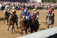 30th April 2021; Kentucky, USA;  Malathaat (10) ridden by jockey John Velazquez wins the 147th Running of the Longines Kentucky Oaks  on April 30, 2021 at Churchill Downs in Louisville, Kentucky.