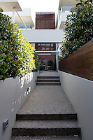 house's front entry