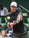 May 24, 2016:  Andy Murray (GBR) defeated Radek Stepanek (CZE) 3-6, 6-0, 6-3, 7-5, at the Roland Garros being played at Stade Roland Garros in Paris, .  ©Leslie Billman/Tennisclix/CSM