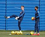 19.04.2019 Rangers training: Allan McGregor and Wes Foderingham